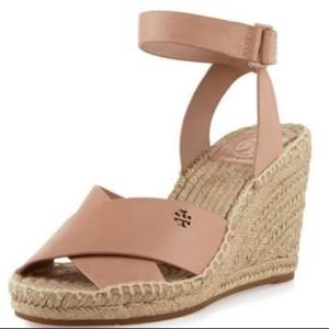 NWOT Tory Burch Bima Wedge Espadrilles